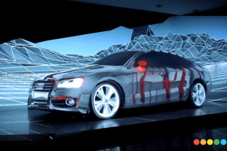 Marlboro Car Projection Mapping Infographic