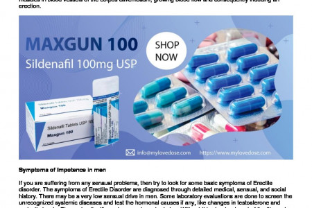 Maxgun 100mg: Easy Remedy For Male Erectile Disorder Infographic
