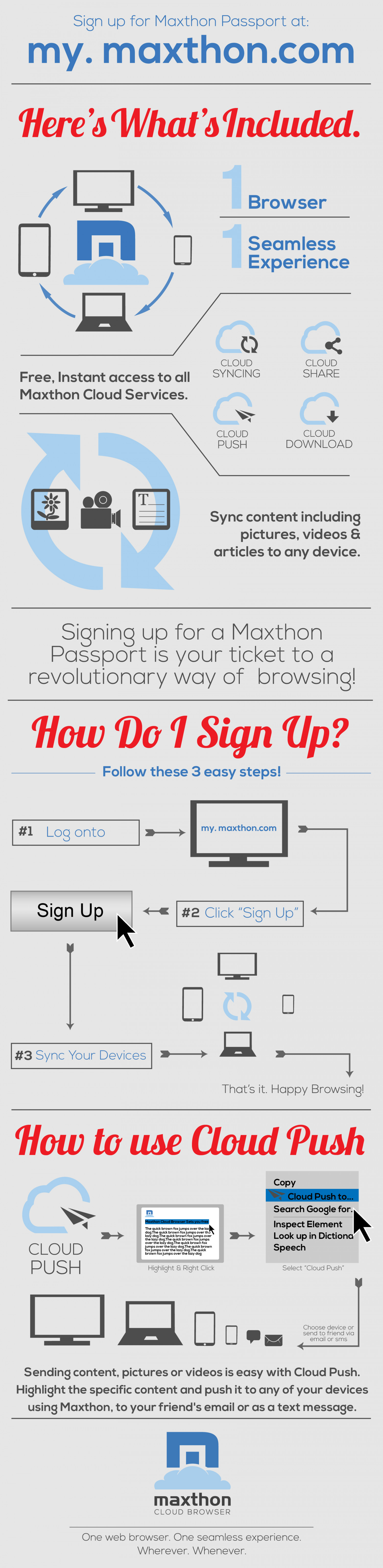 Maxthon Passport Infographic
