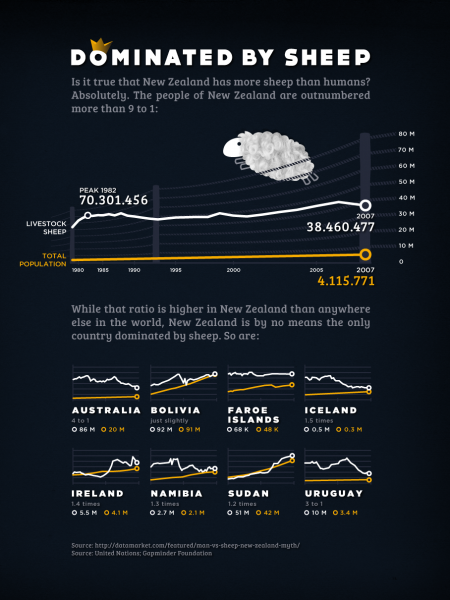 May Data + Design Project - Dominated By Sheep Infographic