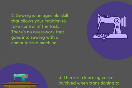 Mechanical vs. Computerized Sewing Machines Infographic
