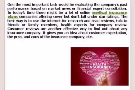 Medical insurance plans Infographic
