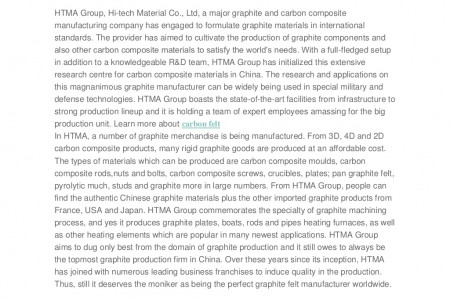 Meet HTMA Group, a Premier Graphite Product Manufacturer from China Owing To Serve the Best Carbon Composites Infographic