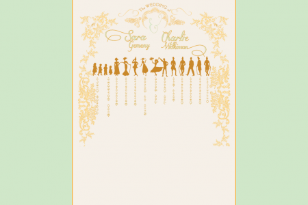 Meet the Wedding Party Infographic
