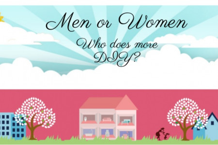 Men or Women-Who does more DIY? Infographic