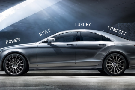 Mercedes Benz CLS Infographic