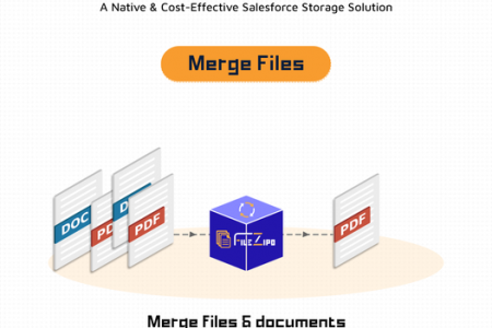 Merge Multiple Files & Documents into a PDF File Infographic