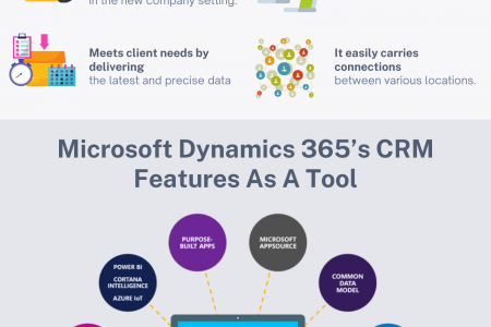 Microsoft Dynamics 365's CRM Features As A Tool Infographic