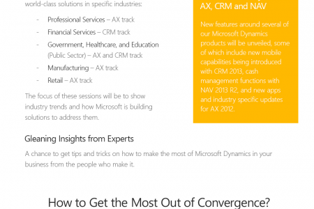Microsoft Dynamics Convergence 2013 EMEA Infographic