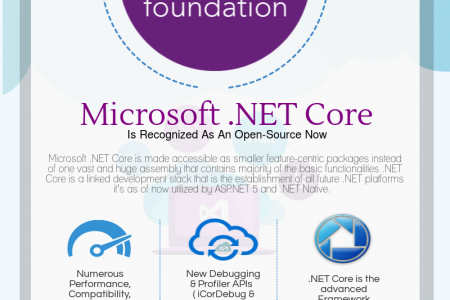 Microsoft .NET Core Is Recognized As An Open-Source Now Infographic