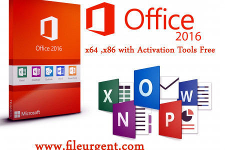 Microsoft office 2016 x64 x86 with Activation Tool Free Infographic