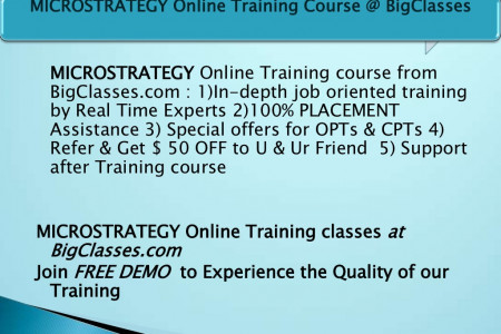 Microstrategy Online Training Infographic