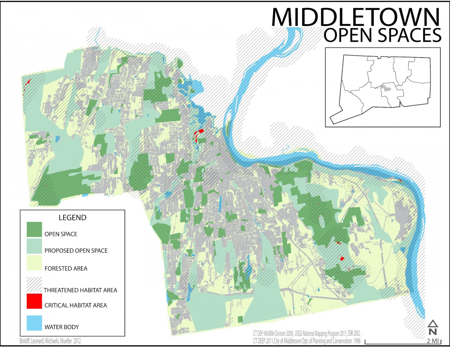 Middletown Open Spaces Infographic