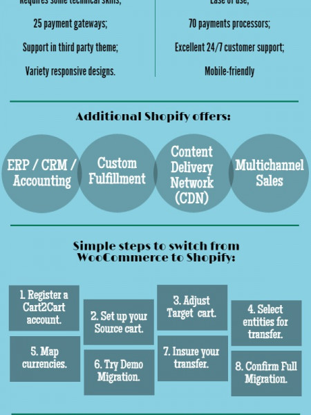Migration from WooCommerce to Shopify on the Fly Infographic