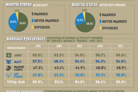 Military Divorce Statistics Infographic