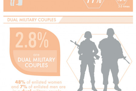 Military Spouse Breakdown Infographic