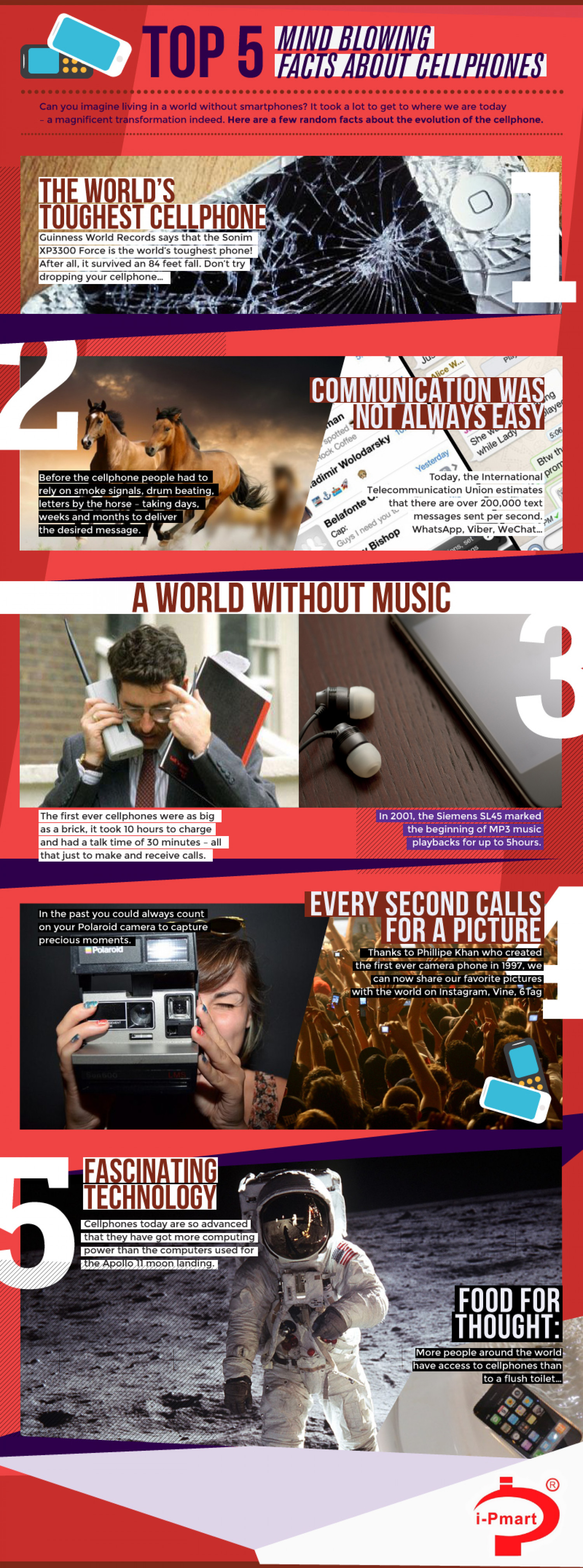 Mind Blowing Facts About Cellphones Infographic