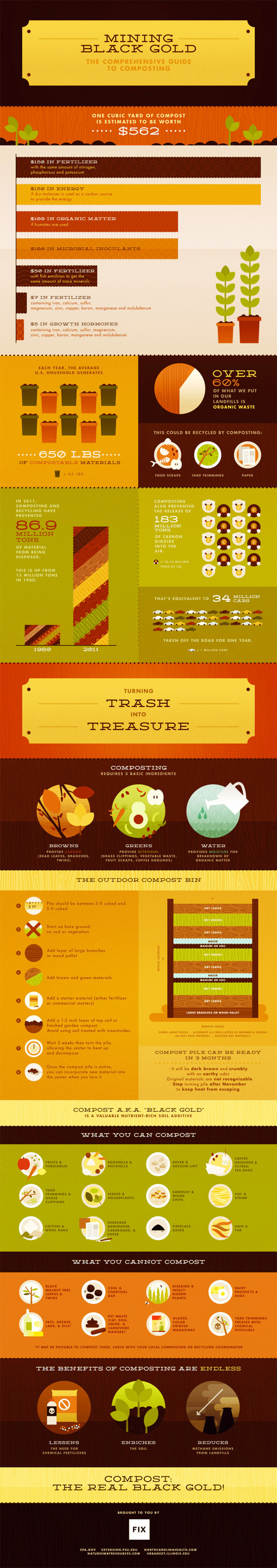 Mining Black Gold: The Comprehensive Guide to Composting Infographic