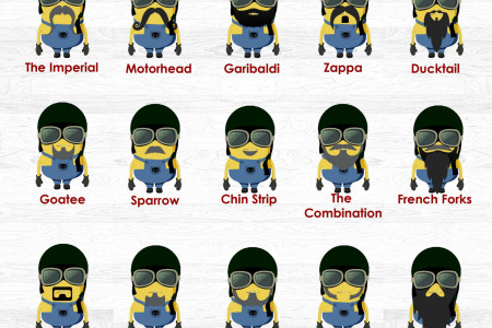 Minion Biker Beards from the Badass Helmet Store Infographic