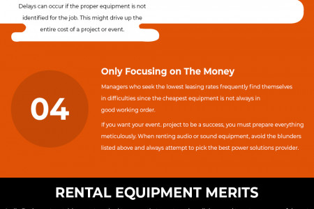 Mistakes to avoid during equipment rentals Infographic