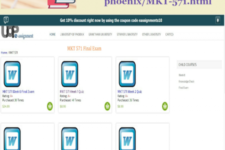 MKT 571 Final Exam   UOP E Assignments Infographic