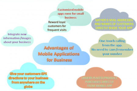 Mobile App for Business Infographic