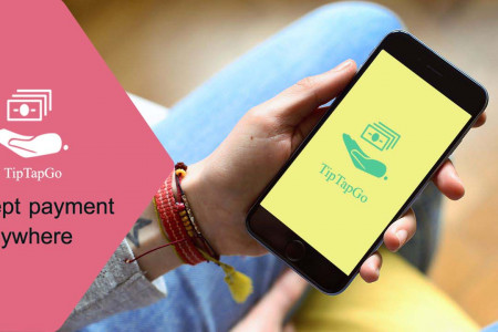 Mobile app for Digital Payment  TipTapGo Infographic