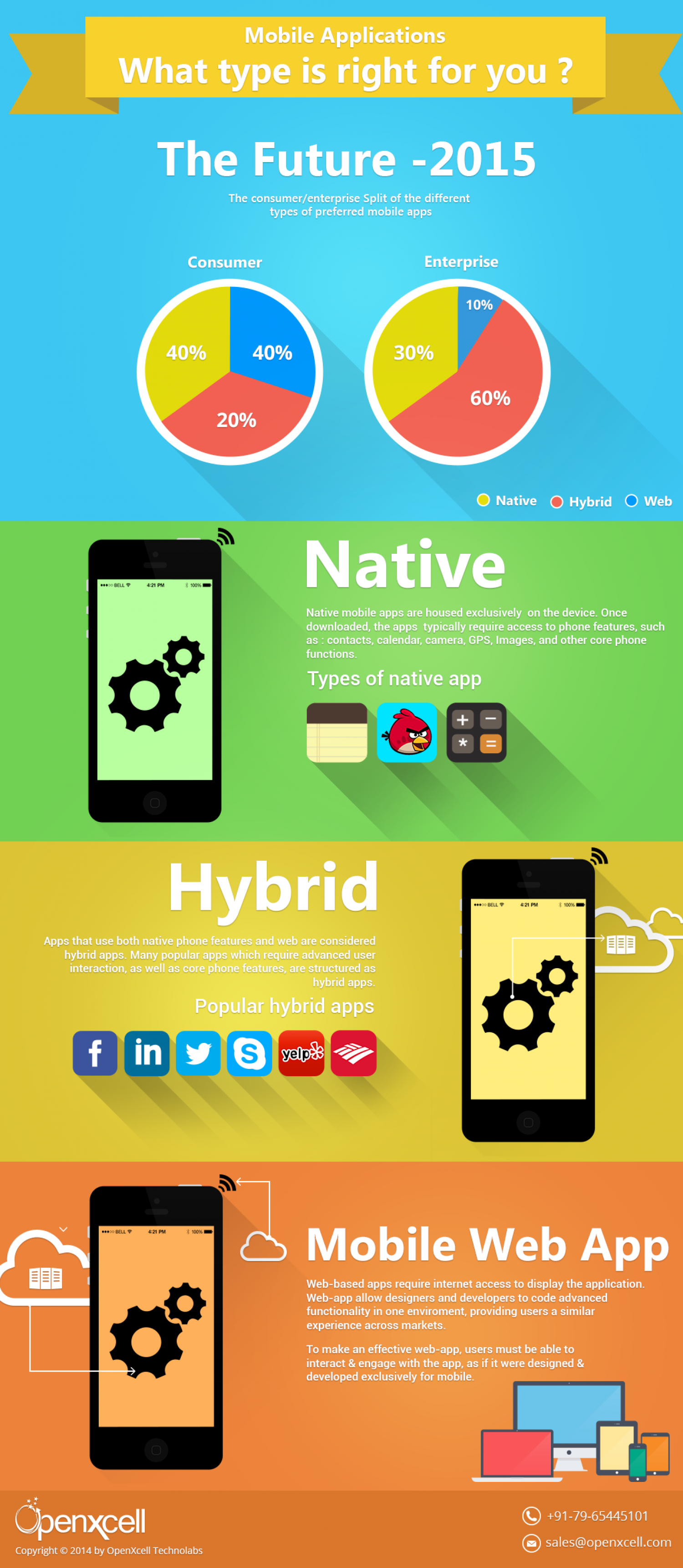 Mobile Applications: What Type Is Right For You? Infographic