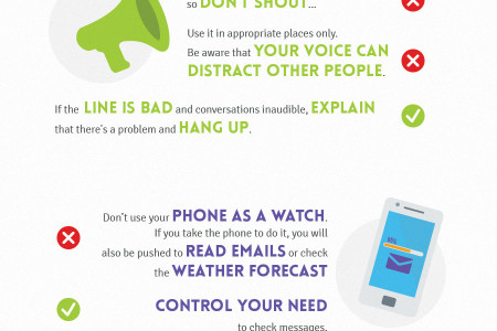 Mobile etiquette: do's and don'ts when using your mobile phone Infographic