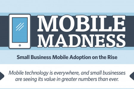 Mobile Madness: Small Business Mobile Adoption on the Rise Infographic