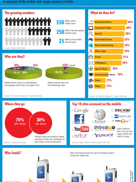 Mobile Web in India Infographic