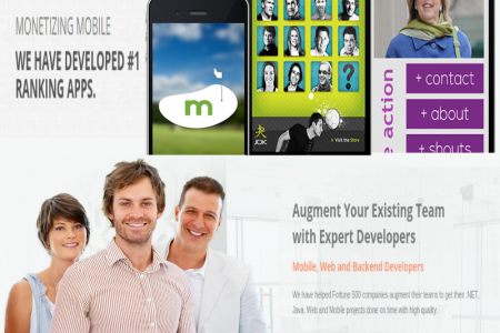 MobliThink - App and Mobile Website Development Solutions Infographic