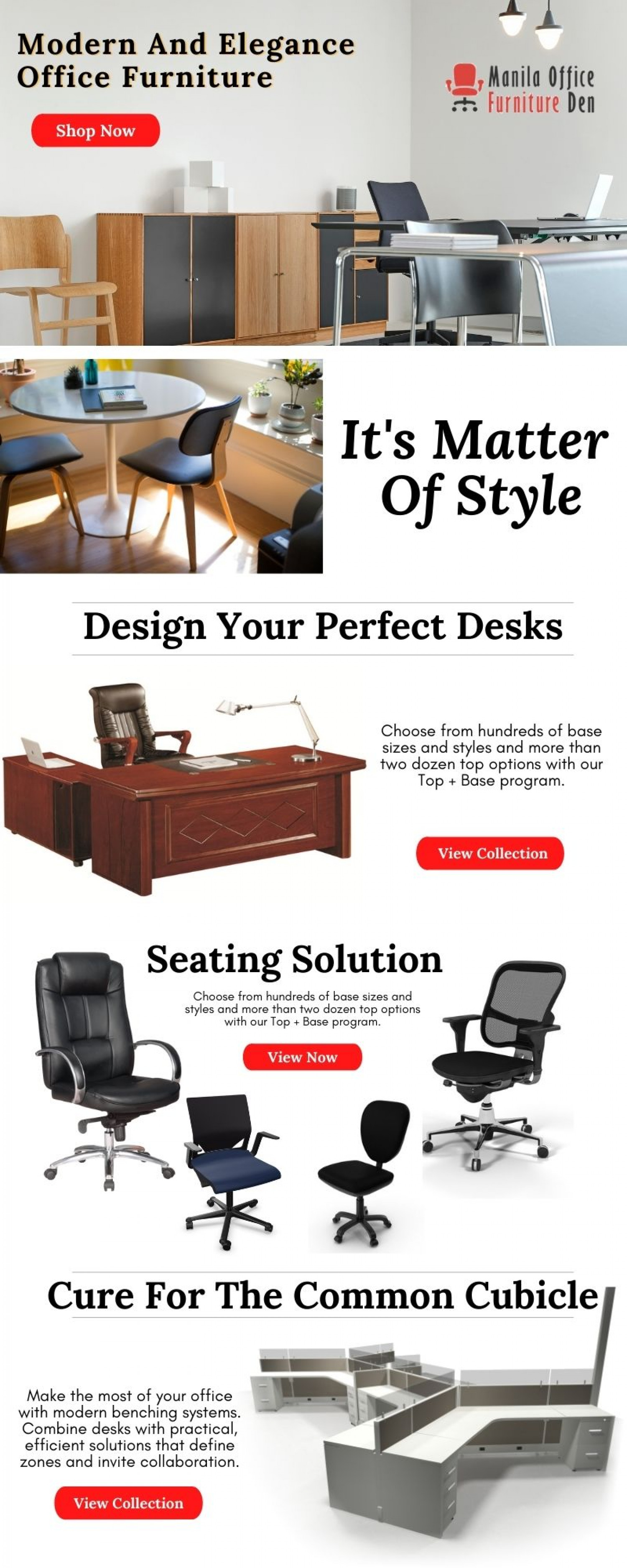 Modern And Elegance office Furniture Infographic