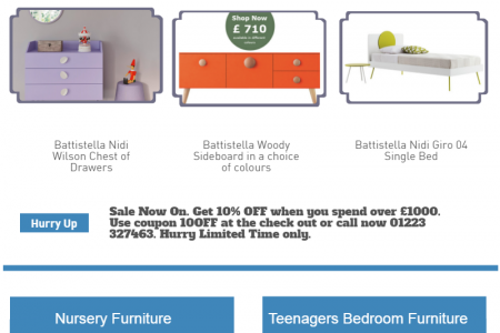 Modern Children Bedroom Furniture Infographic