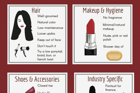 Modern Interview Fashion Guide for Women Infographic