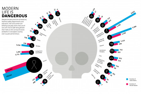 Modern Life Is Dangerous Infographic