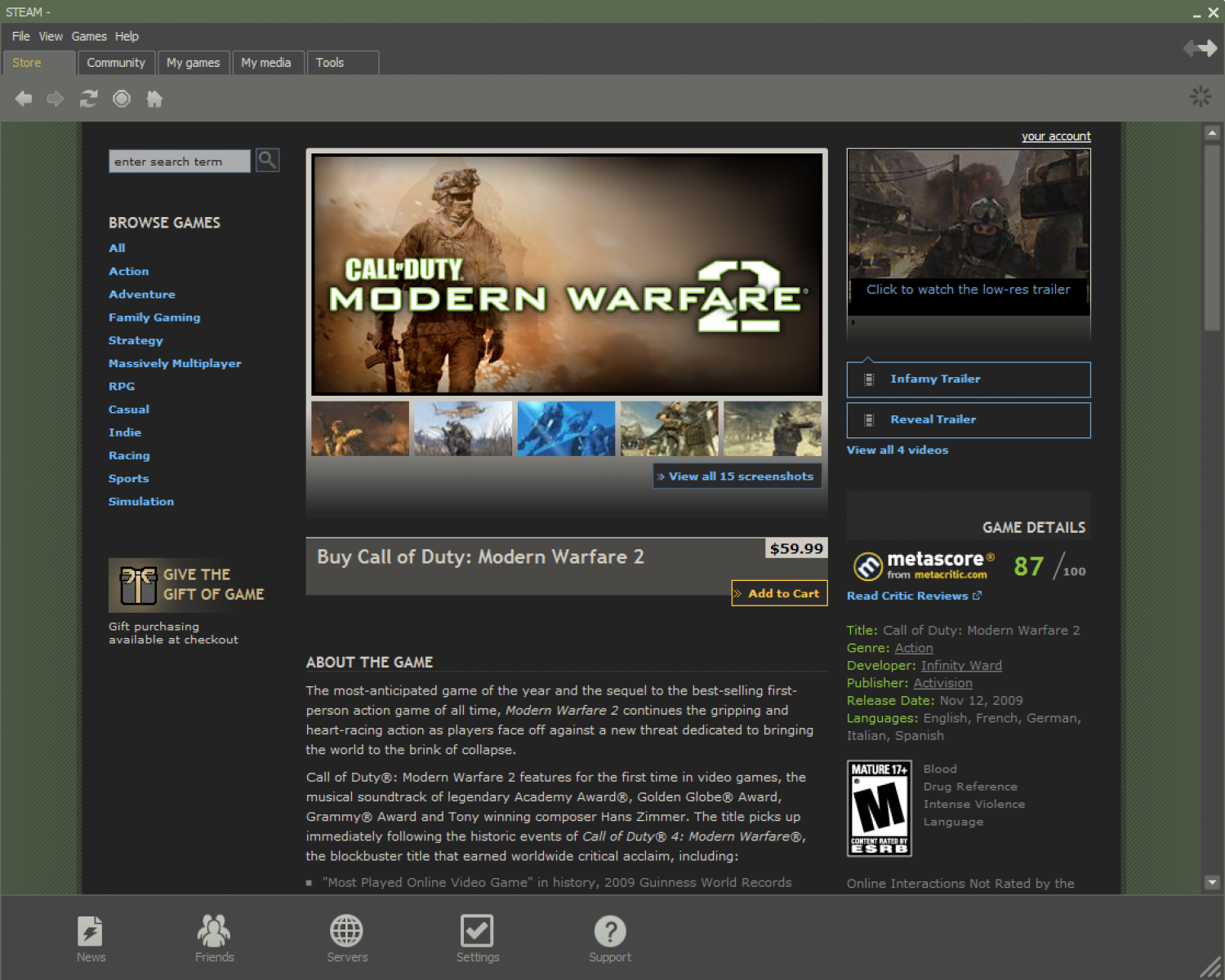 Modern Warfare 2 tests our Short Attention Span - Bright Side Of News Infographic