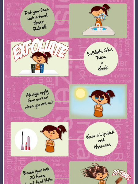 Beauty Tips Mom Gives Her Daughter Infographic