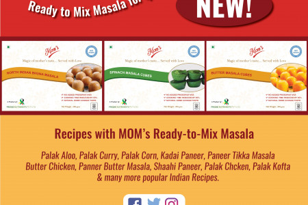 MOM's Ready-To-Mix Masala   Quick Meals & Effortless Cooking Infographic