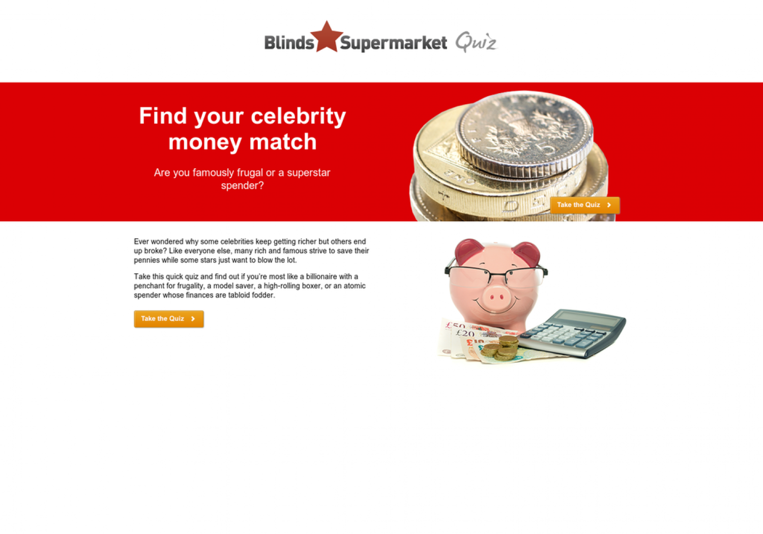Money Saving Quiz - Find Your Celebrity Money Match Infographic