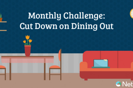 Monthly Challenge: Cut Down on Dining Out Infographic