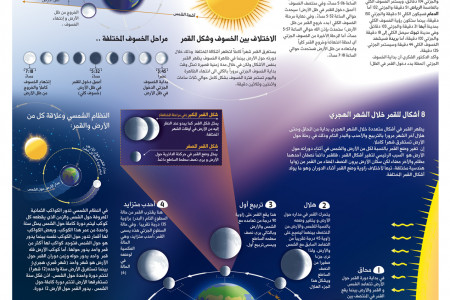 Moon Eclipse & Phase Infographic