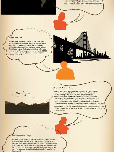 Most Beautiful Places to Hold an Outdoor Wedding Infographic
