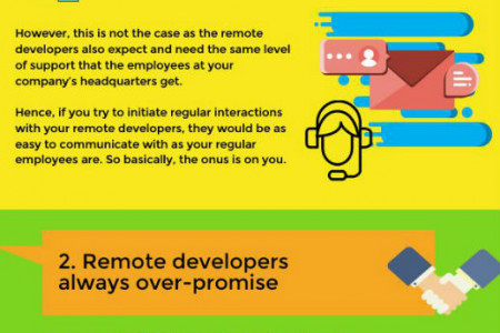Most Common Misconceptions About Hiring Remote Developers Infographic
