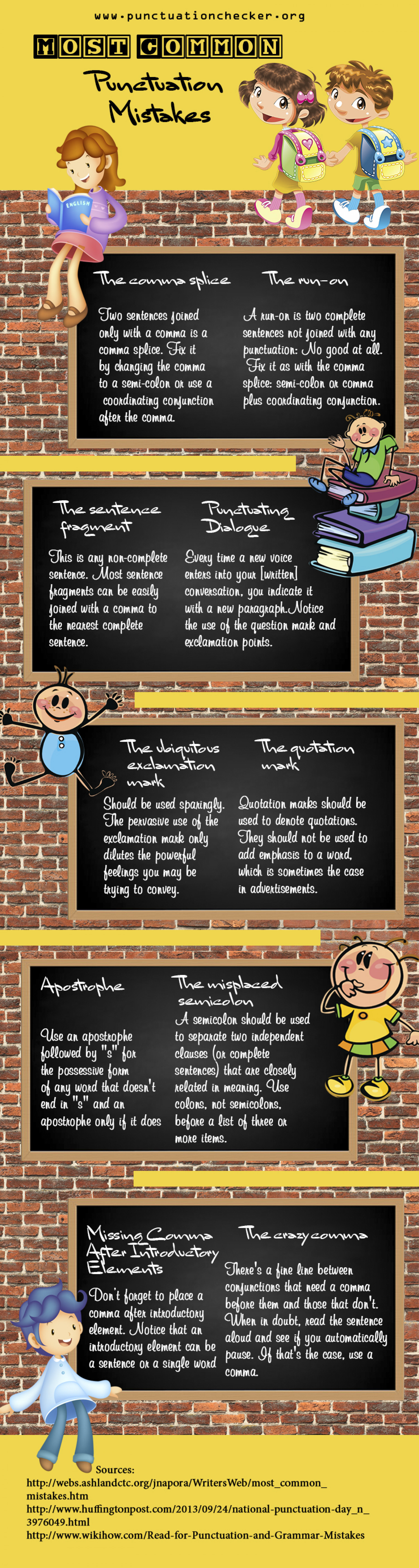 Most Common Punctuation Errors Infographic