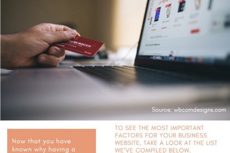 Most Important Factors For ECommerce Website Success Infographic