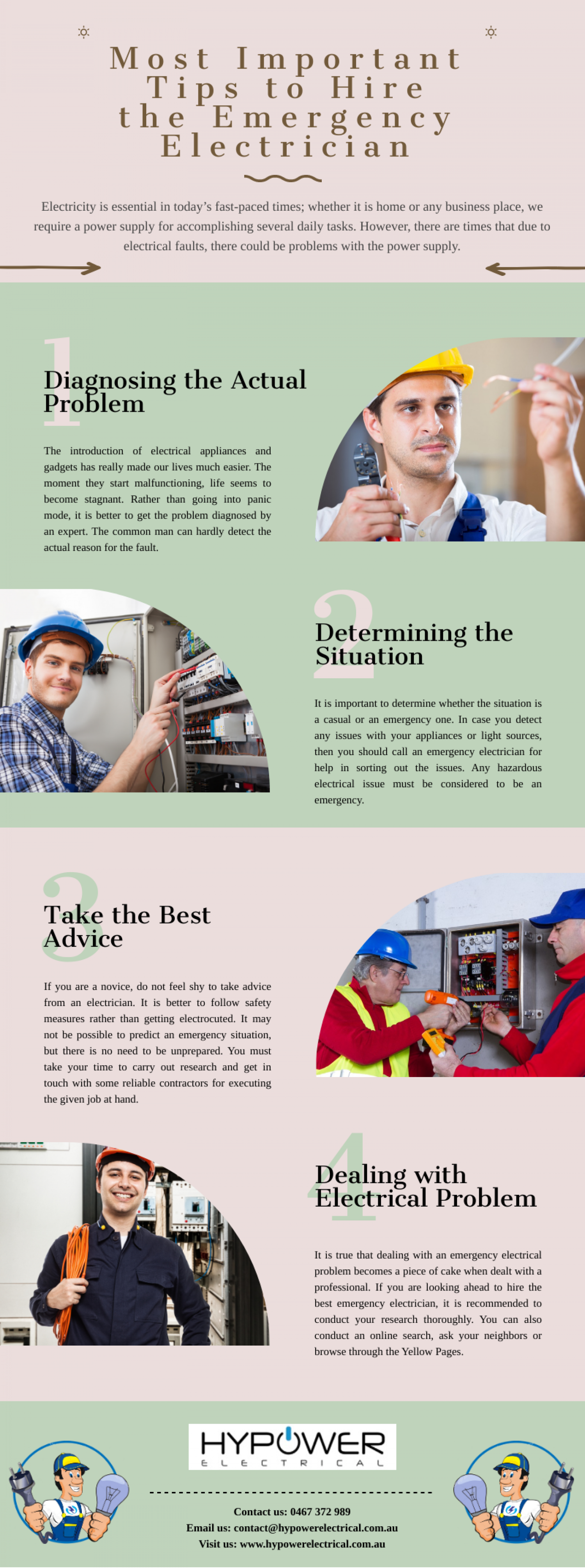 Most Important Tips to Hire the Emergency Electrician Infographic