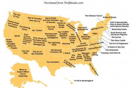 Most Popular Books By State Infographic