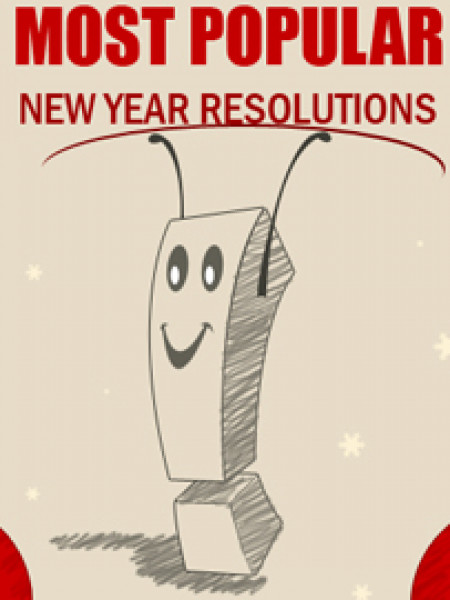 Most Popular New Year Resolutions Infographic