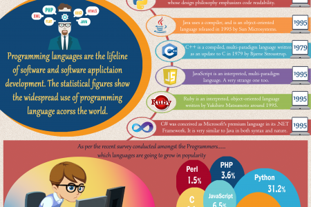 Most Widely Used Programming Languages of - 2015 Infographic